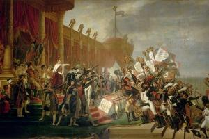The Army Takes an Oath to the Emperor after the Distribution of Eagles, 5 December 1804, 1810 by Jacques Louis David