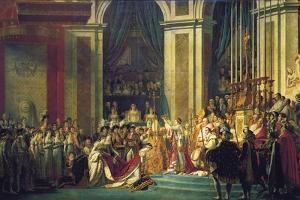 The Coronation of Napoleon at Notre-Dame De Paris on 2nd December 1804, 1807 by Jacques Louis David