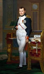 The Emperor Napoleon in His Study at the Tuileries by Jacques-Louis David by Jacques-Louis David