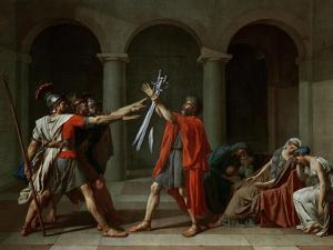 The Oath of the Horatii by Jacques-Louis David