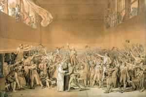 The Tennis Court Oath, 20th June 1789, 1791 by Jacques Louis David