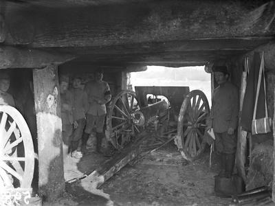 A 75 Cannon in a Shelter