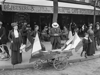 Man Selling Flags, Paris, 1914