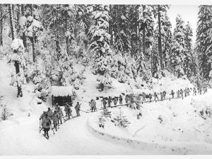 Mountain Infantrymen in the Vosges, 1918 by Jacques Moreau
