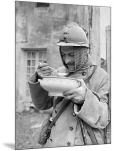 Soldier Eating Soup, 1915 by Jacques Moreau