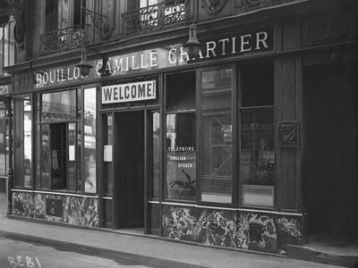 The Bouillon Camille Chartier Welcoming the Customer in English Language, Paris