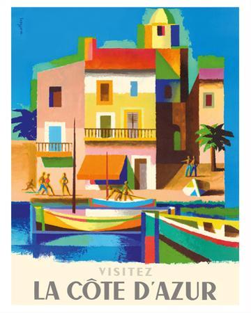 Visitez (Visit) La Cote D'Azur - France - French Riviera by Jacques Nathan-Garamond
