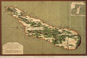 Map of Madagascar, 1766 by Jacques-Nicolas Bellin