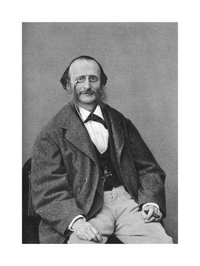 Jacques Offenbach (1819-188), German-Born French Composer, Cellist and Impresario of the Romantic-Felix Nadar-Giclee Print