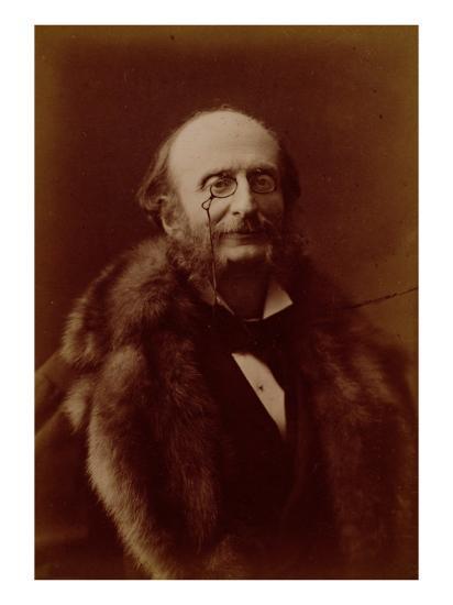Jacques Offenbach, German Composer, Portrait Photograph-Nadar-Giclee Print