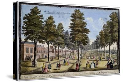 St James Palace and Park, London, Showing Formal Planting of Trees in Avenues, 1750