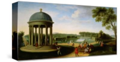 The Queen's Theatre from the Rotunda, Stowe House, Bucks, with Lord Cobham and Charles Bridgeman