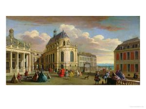 View of the Chapel of the Chateau De Versailles from the Courtyard by Jacques Rigaud