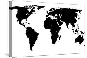 World maps canvas artwork for sale posters and prints at art world map black on whitejacques70 stretched canvas print gumiabroncs Gallery