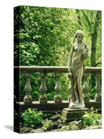 Statue of Woman with Pitchers Ballustrade, Woodland Melford House, Dorset