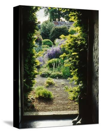 View Through Doorway to Country Garden, Herterton House