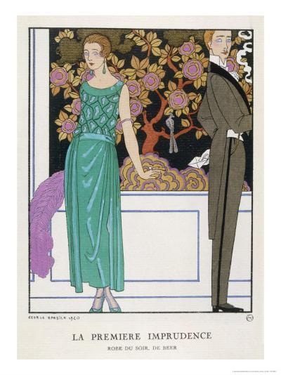 Jade Green Dress by Beer-Georges Barbier-Giclee Print
