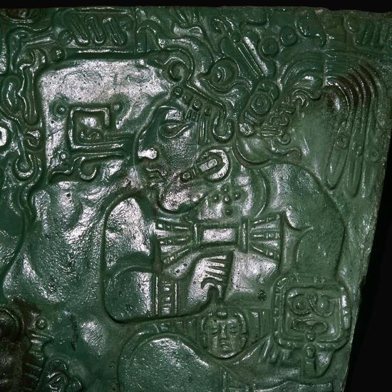 Jade Maya carving of a seated dignitary-Unknown-Giclee Print