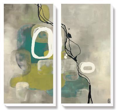 Jade Retro-Laurie Maitland-Canvas Art Set