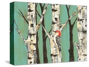 Birch Grove on Teal II by Jade Reynolds