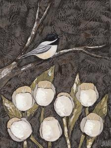 Chickadee & Tulips I by Jade Reynolds