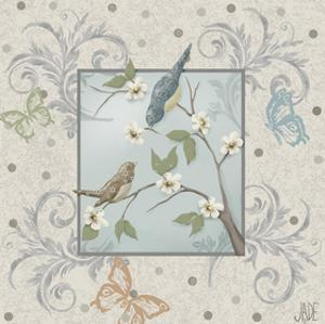 Whimsical Birds I by Jade Reynolds