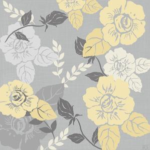 Yellow Roses on Grey II by Jade Reynolds