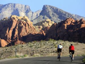 Two Cyclists, Red Rock Canyon National Conservation Area, Nevada, May 6, 2006 by Jae C. Hong