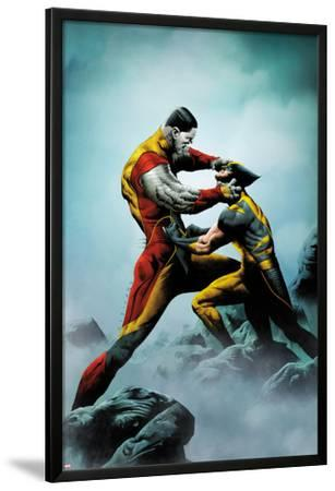Wolverine No.4 Cover: Wolverine and Colossus Fighting