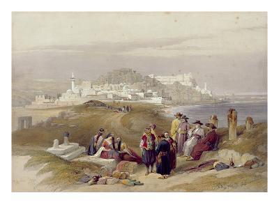Jaffa, Ancient Joppa, April 16th 1839, Plate 61 from Volume II of 'The Holy Land'-David Roberts-Giclee Print