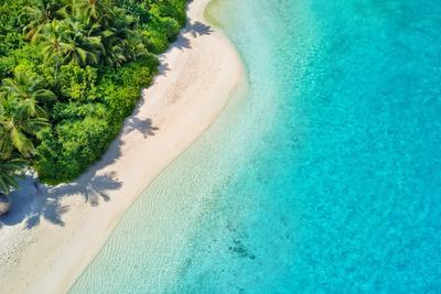 Aerial Photo of Beautiful Paradise Maldives - Tropical Beach on Island