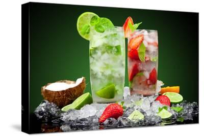 Fruit Cocktail With Dark Background