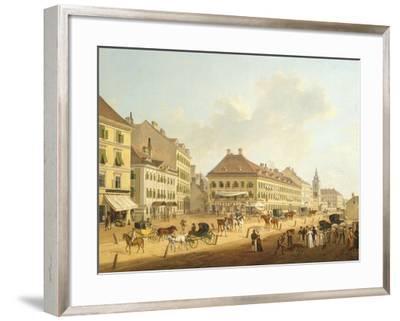 Jagerzeile in Vienna by Franz Scheyerer, Austria 19th Century--Framed Giclee Print