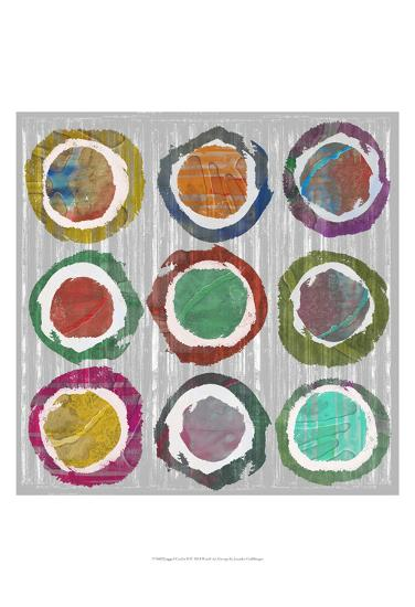 Jagged Circles II-Jennifer Goldberger-Art Print