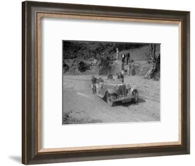 Jaguar SS open 2-seater at the Mid Surrey AC Barnstaple Trial, Beggars Roost, Devon, 1934-Bill Brunell-Framed Photographic Print