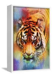 Colorful Expressions Tiger by Jai Johnson