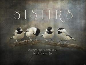Sisters Chickadees by Jai Johnson