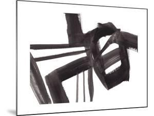 Black and White Abstract Painting 1 by Jaime Derringer