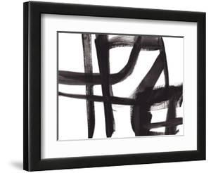 Black and White Abstract Painting 2 by Jaime Derringer