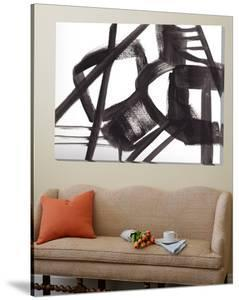 Black and White Abstract Painting 3 by Jaime Derringer