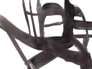 Black and White Abstract Painting 4 by Jaime Derringer