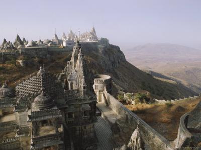 Jain Holy Hill and Temple Complex, Mount Girnar, Junagadh (Junagarh), Gujarat, India-John Henry Claude Wilson-Photographic Print