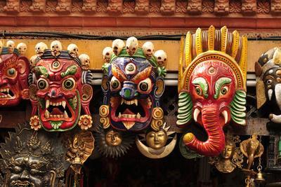 Folk Art of Nepal, Paper Mache Masks