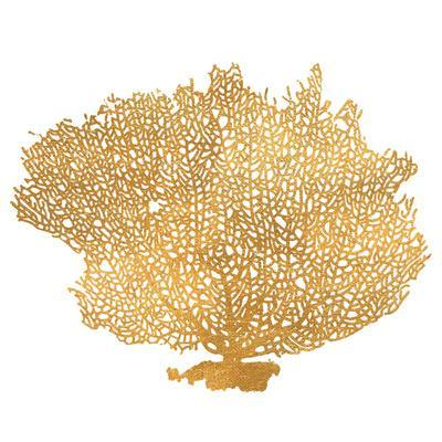 Golden Sea Fan I (gold foil)