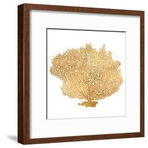 Golden Sea Fan I (gold foil) by Jairo Rodriguez