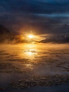 A Dramatic Winter Sunrise over the Chilkat River by Jak Wonderly