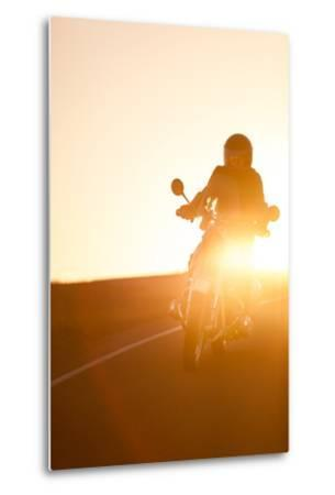 A Rider on 1960S Bmw R60Us Motorcycle on a Coastal Road at Sunset