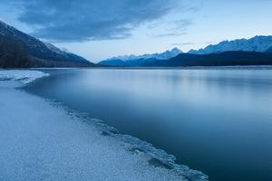 Pre-Dawn Long Exposure of the Icy Blue Chilkat River by Jak Wonderly