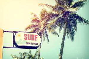 Sign of Surf Beach House by jakkapan