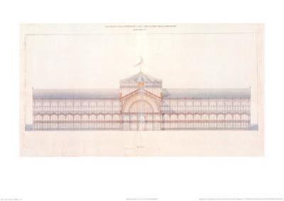 Cast Iron and Glass Industrial Pallet for the Champs-Elysees, Main Facade, c.1852
